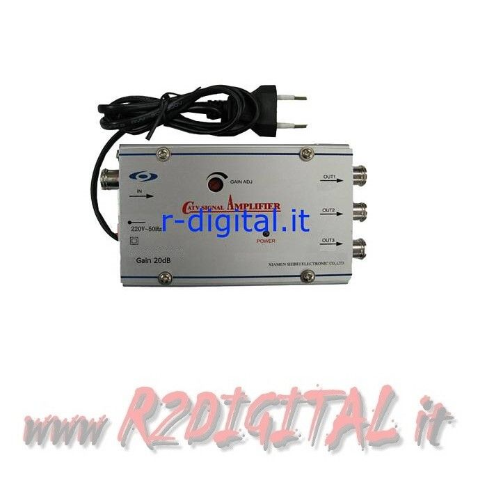 AMPLIFICATORE ANTENNA 220V SEGNALE 3 TV DVB-T DIGITALE TERRESTRE